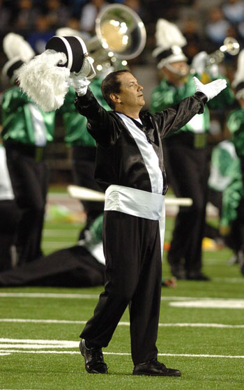 Cavaliers 60th Anniversary Alumni Corps drum major Hartowicz