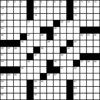 Halftime Crossword Puzzle