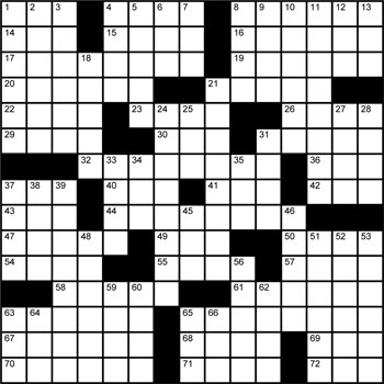Halftime Crossword Solution