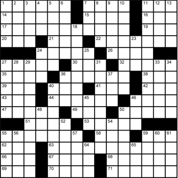 Halftime Crossword Grid