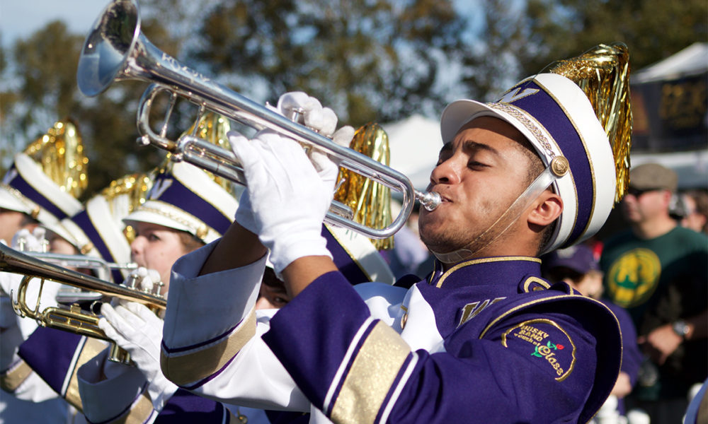 significance in marching band After a long day of music and marching, noblesville emerged as indiana's best marching band for the second straight year in the 72nd annual indiana state fair band day competition .