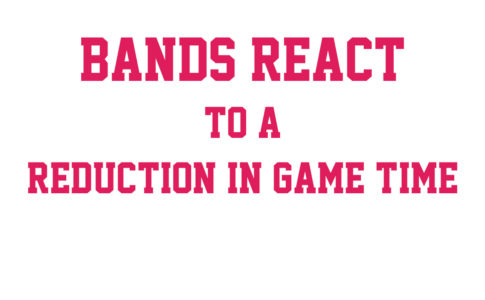 Pac-12 bands react to a reduction in game time.