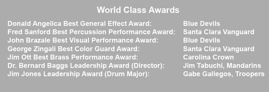 2017 DCI Champion World Class Awards