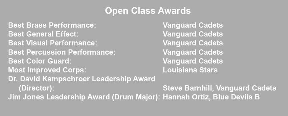 2017 DCI Open Class Awards
