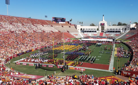 LA Mayor Conducts USC and High School Bands