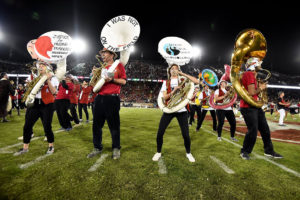 Members of the LeLand Standford Junior University Marching Band