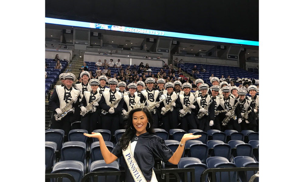 Miss Pennsylvania brings attention to the marching arts.
