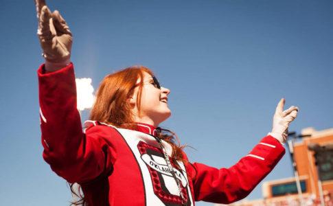 Pride of Oklahoma Marching Band Drum Major, Julie Siberts