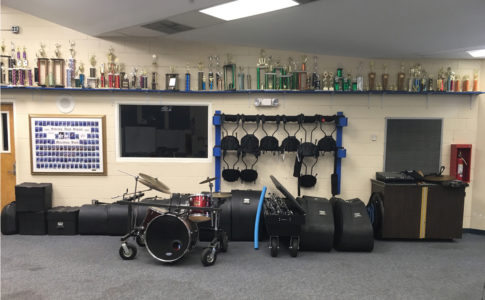 Sebring (Florida) High School band room.