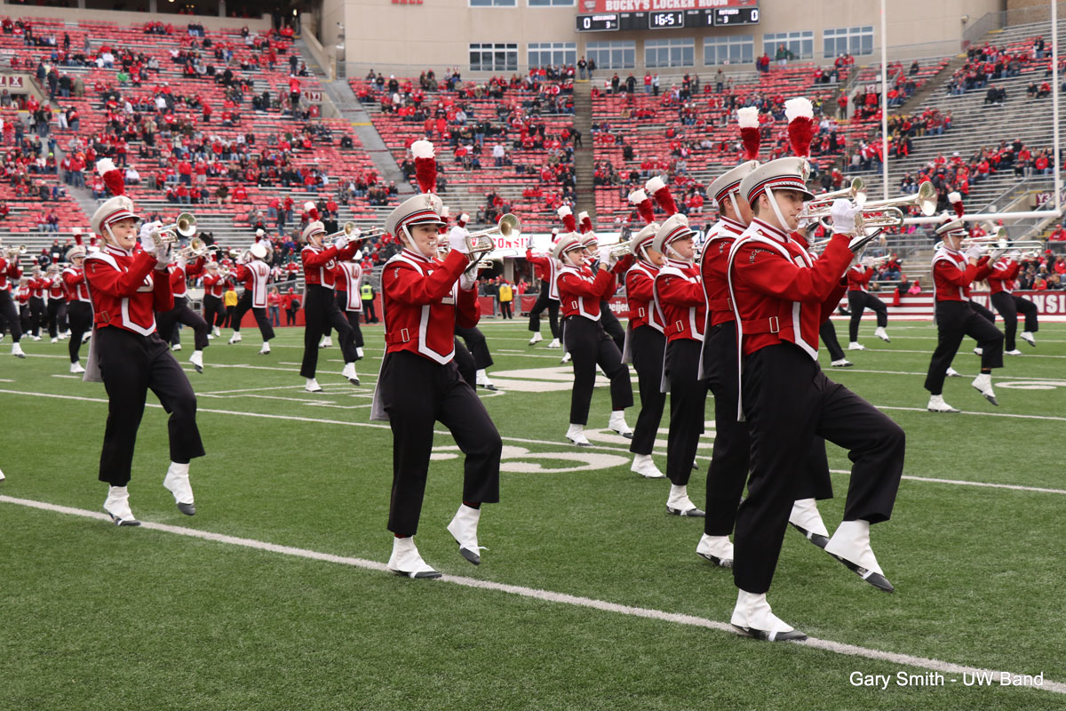 University of Wisconsin marching band.