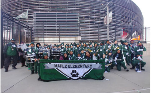 Maple Elementary Performs at New York Jets Game