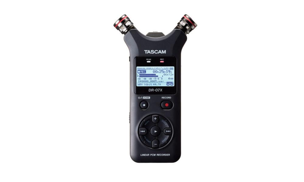 TASCAM next generation DR-X digital audio recorder.