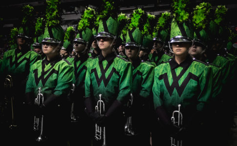 A photo of the Woodlands (Texas) High School band.