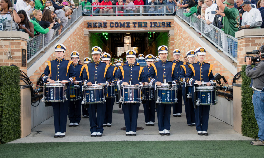 Photo of Notre Dame Band.