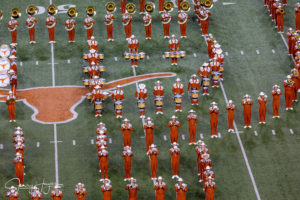 Photo of the University of Texas Longhorn Band at Austin.