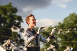 Photo of Joshua Hecht in Music City Drum and Bugle Corps by Sydney Williams.