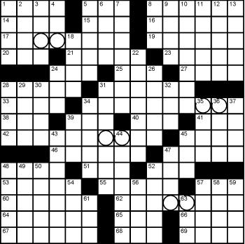 2019 July / August crossword