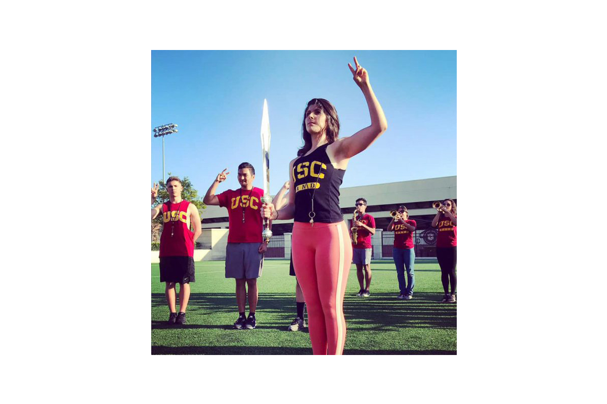 A photo of India Anderson at USC.