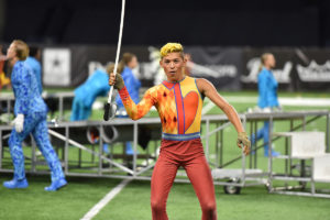 A photo of the Bluecoats from DCI 2019.