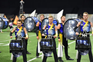 A photo of the Blue Devils Drum & Bugle Corp from DCI 2019.