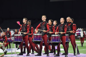 A photo of Spartans Drum & Bugle Corp from DCI 2019.