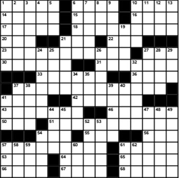 2019 September / October crossword