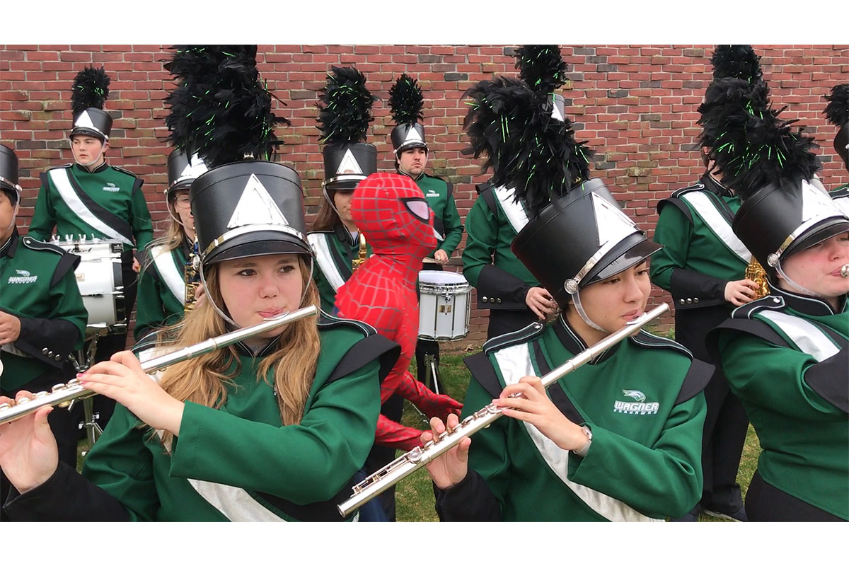 A photo of Wagner College band.