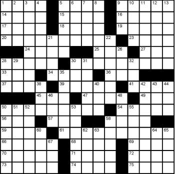 2019 November / December crossword