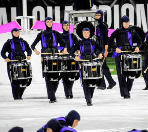 A photo of the O'Fallon (Illinois) Township High School Marching Panthers.