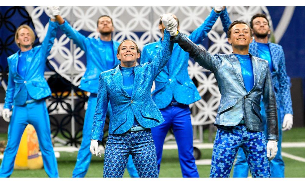 A photo of the Bluecoats Rhythm in Blue.