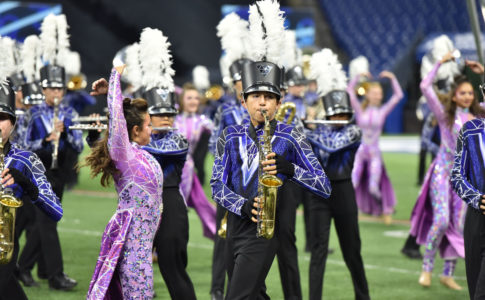 A photo of Vandegrift High School marching band.
