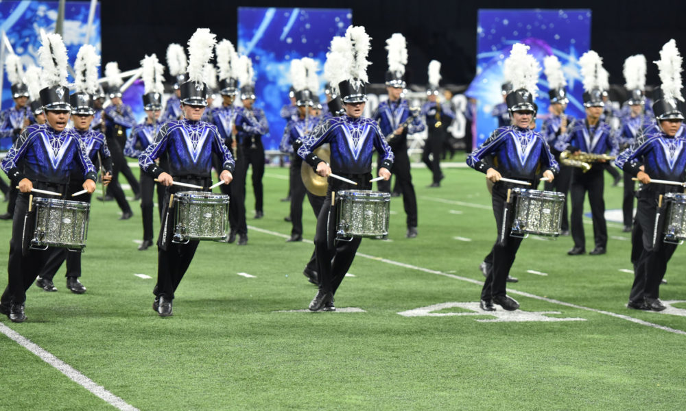 A photo of the Vandegrift Band and Vision Dance Company.