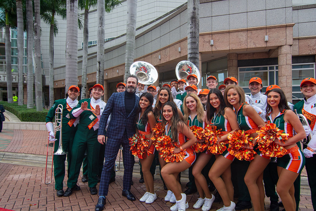 A photo of the University of Florida Marching Band.