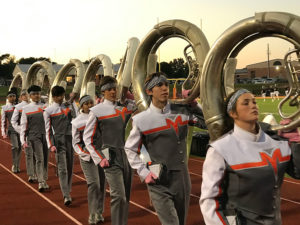 A photo of Mineola High School band.
