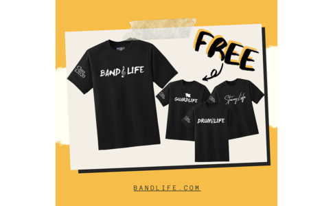 Free shirt from Band Life for seniors.