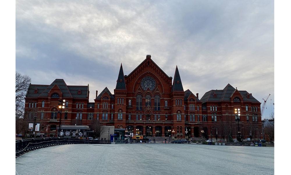 A photo of Cincinnati Music Hall.
