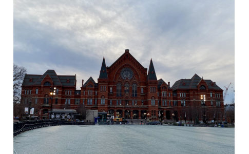 A photo of Cincinnati Music Hall.