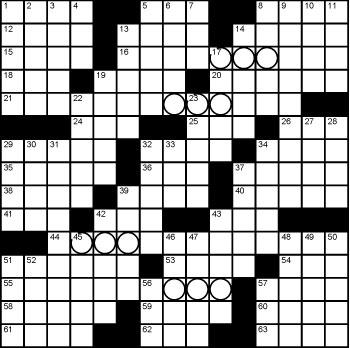 2020 July / August crossword