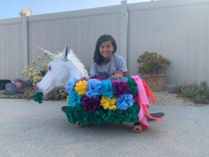 Photo of a Rosebud Parade participant.