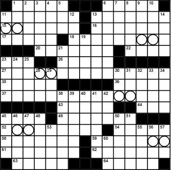 2020 September / October crossword