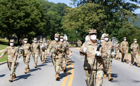 A photo of West Point Band.