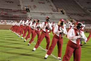 A photo of the University of Oklahoma band.