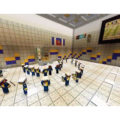 Michigan Marching band featured on Minecraft.