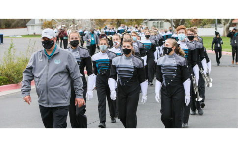 A photo of Farmington High School band.