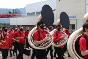 Band members at the The Ohio State University (OSU).